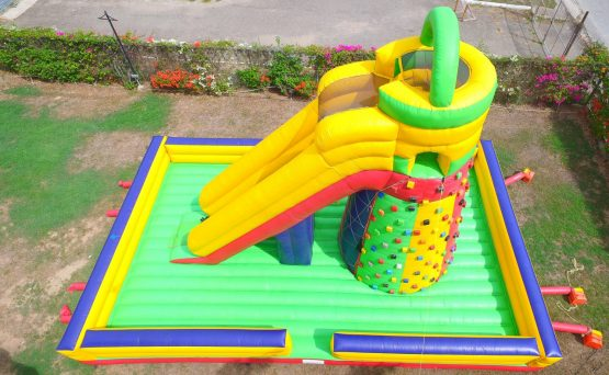 Rock Climber Inflatable w/ Single Lane Dry Slide