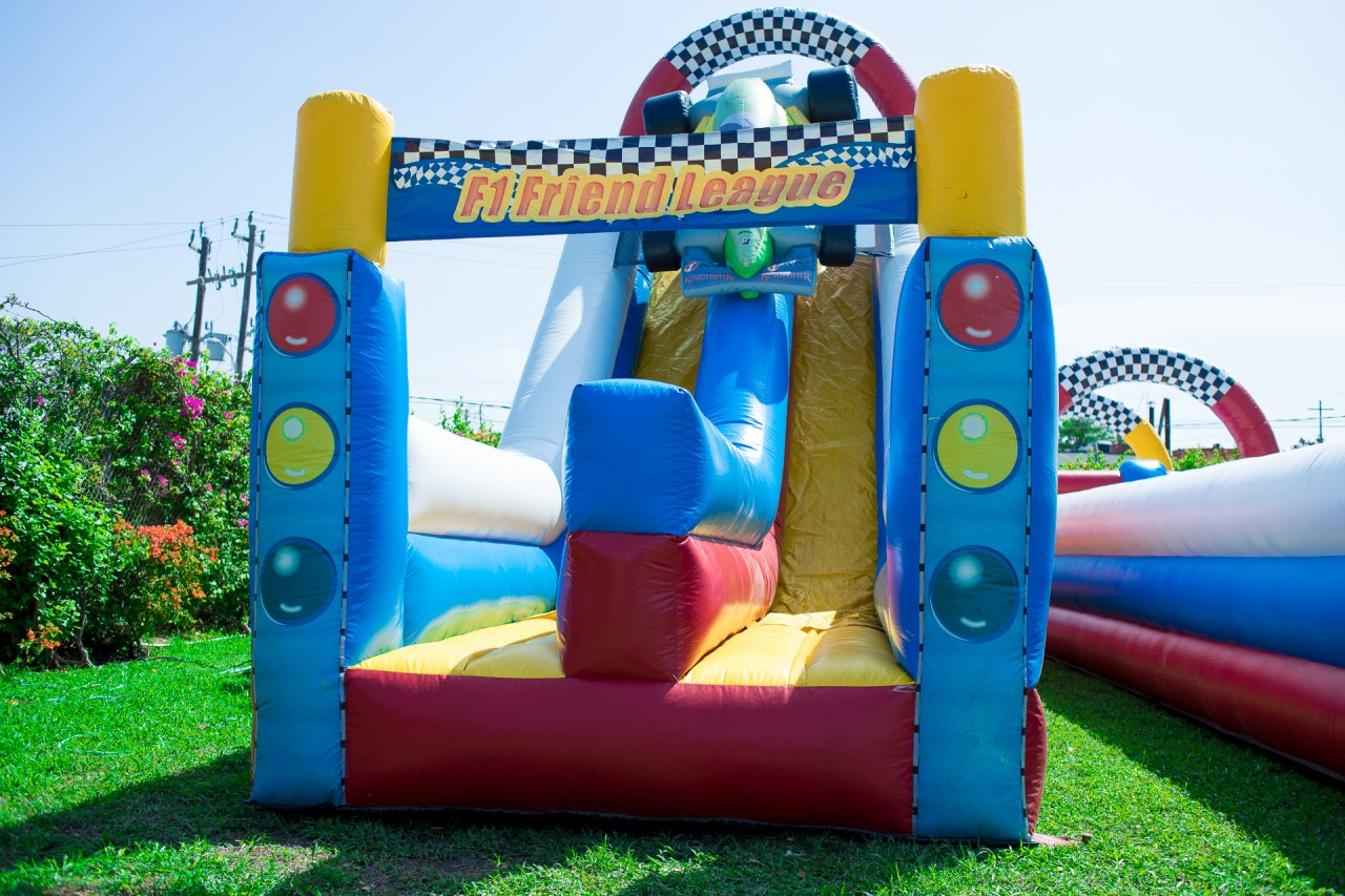 Race Car Inflatable Obstacle Course