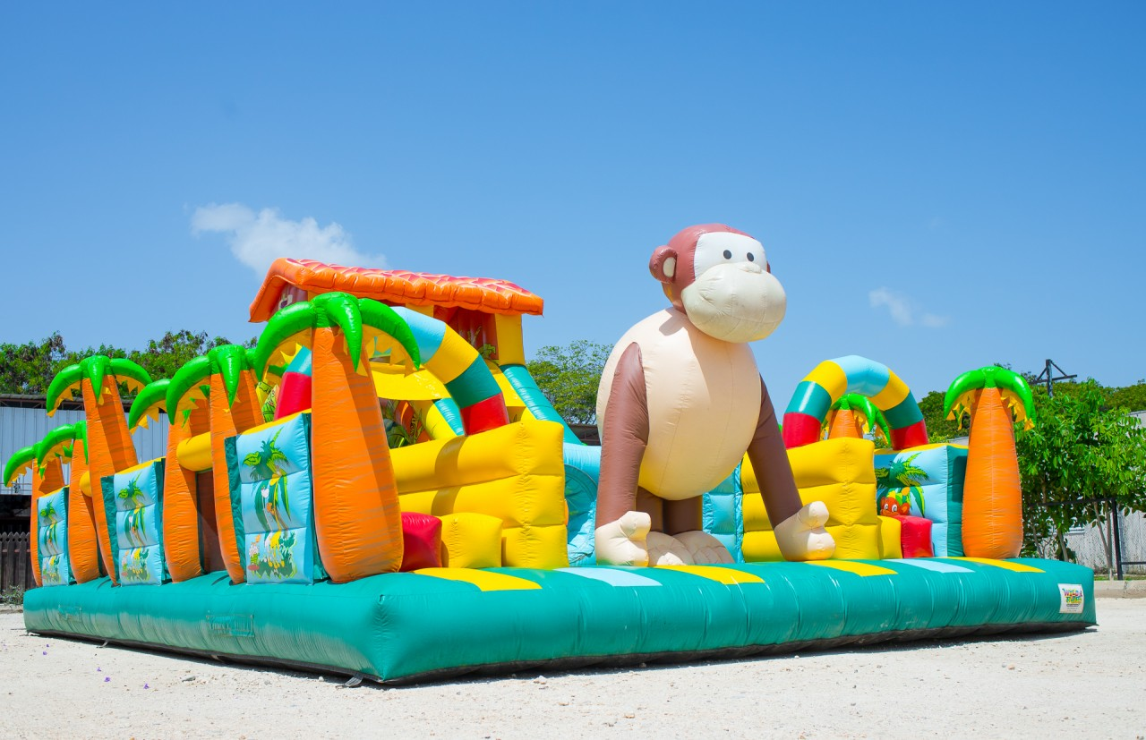 Jungle Obstacle Inflatable Maze Course