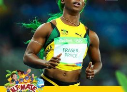 shelly ann fraser pryce never disappoints she managed to run a great race with 263x190 - Shelly-Ann Fraser-Pryce never disappoints! She managed to run a great race with ...