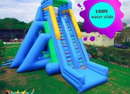 Explore the wilder side with our 100 ft water slide 263x190 - Explore the wilder side with our 100 ft water slide.  To book us for your next e...