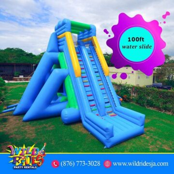 Explore the wilder side with our 100 ft water slide 360x360 - Explore the wilder side with our 100 ft water slide.  To book us for your next e...