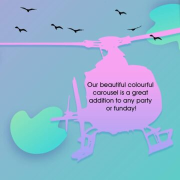 Who knew helicopter rides could be so much fun Our 360x360 - Who knew helicopter rides could be so much fun!  Our colourful helicopter carous...