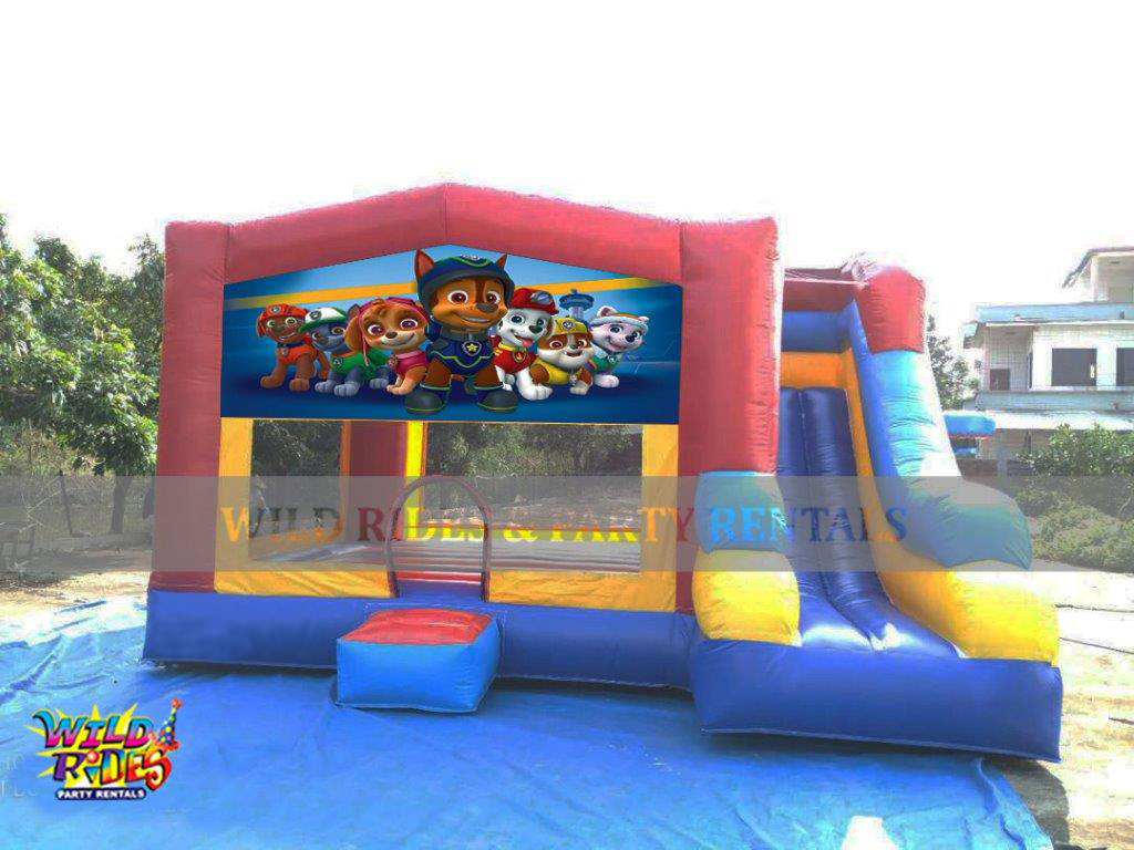 Paw Patrol Themed Bouncer w/ Dry Slide