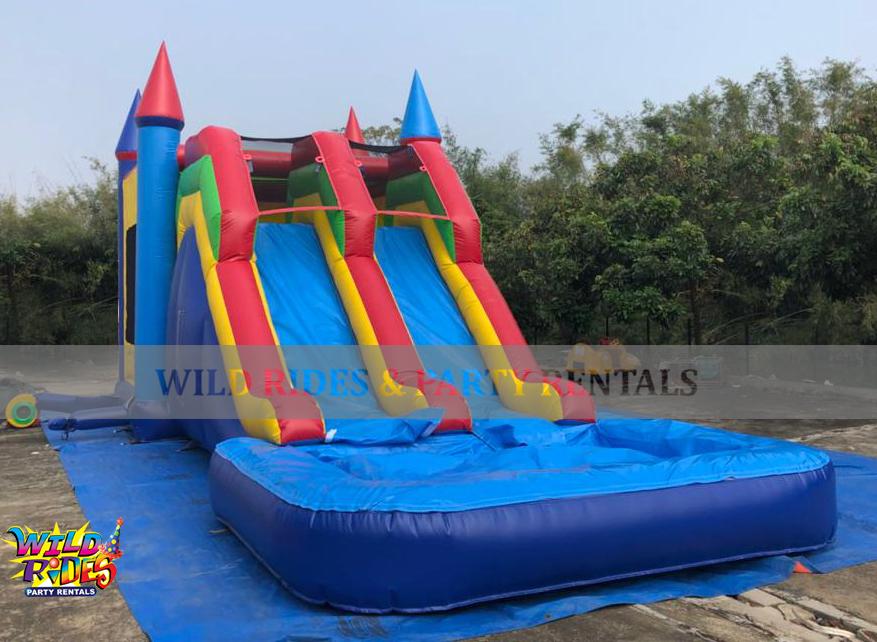 Water Slide Castle Bounce Combo