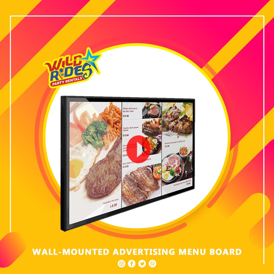 Wall-mounted Advertising Menu Board