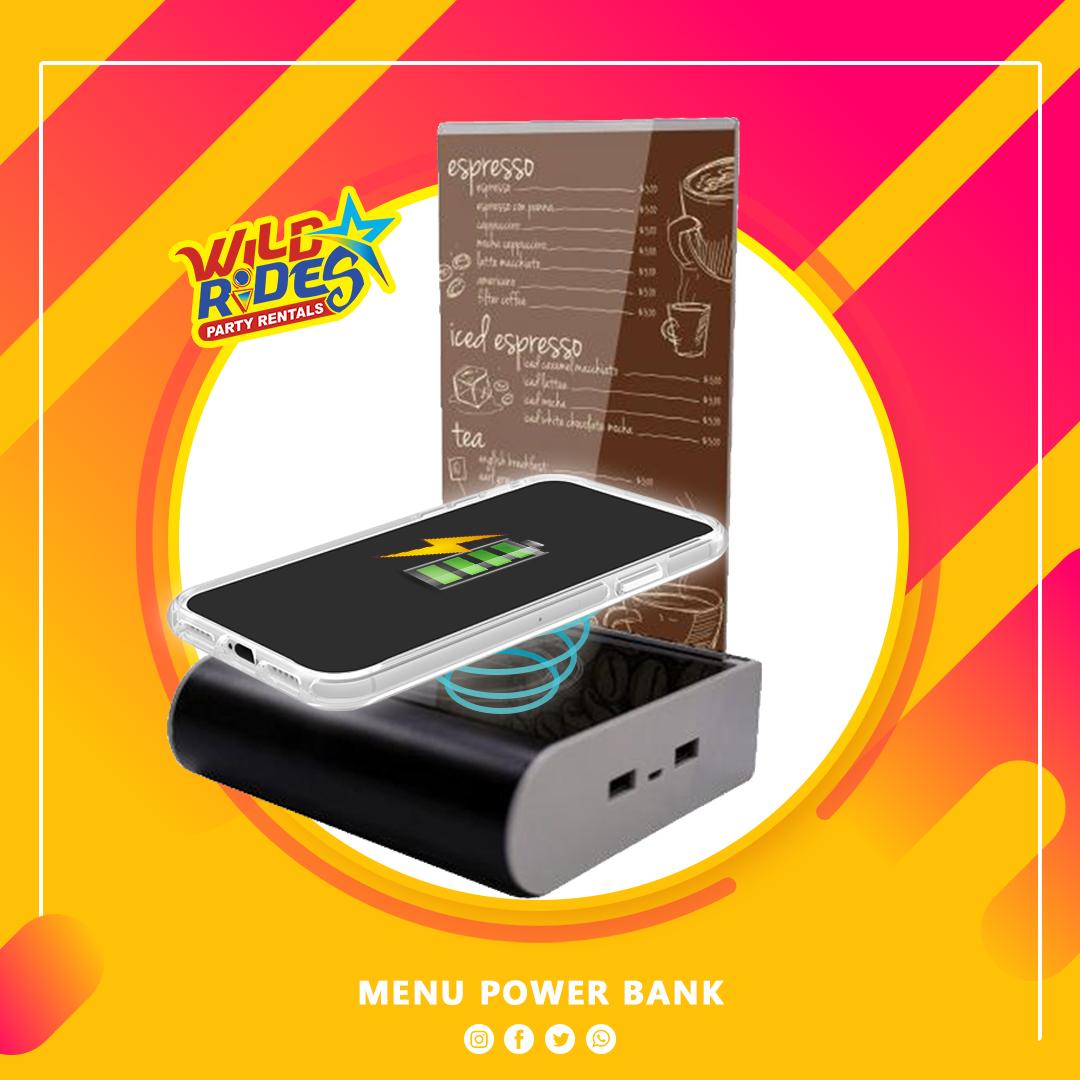 Menu Power Bank