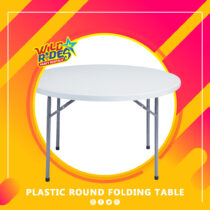 WR - Plastic Round Folding Table