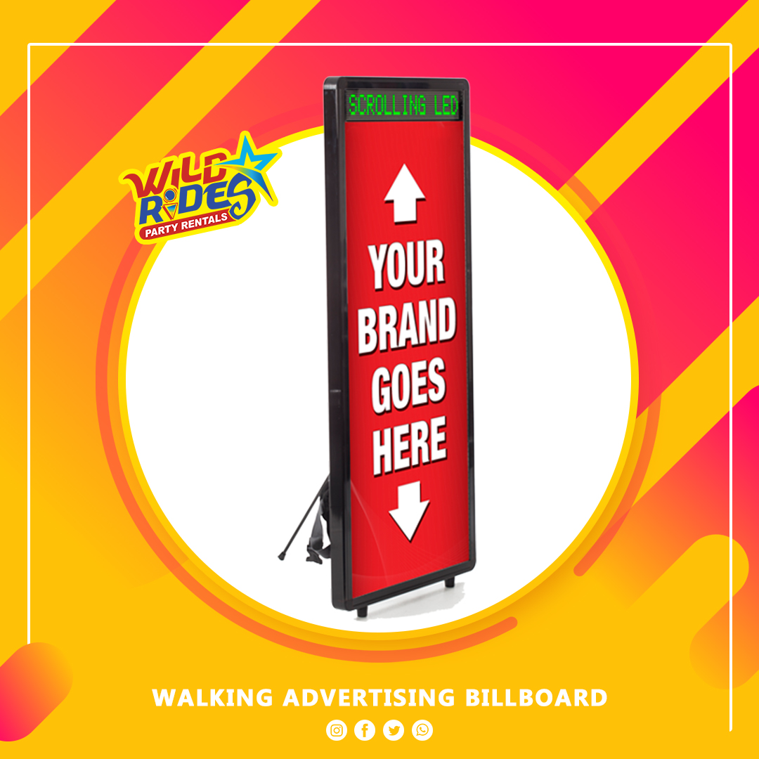 Walking Advertising Billboard w/ Scrolling LED