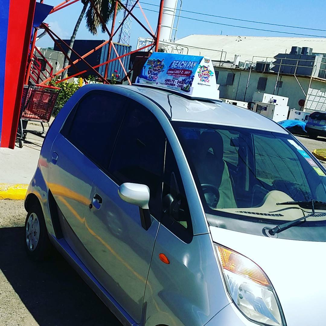 Catch our Tata Nano advertising our fun day somewhere near you... #ufftbeachday