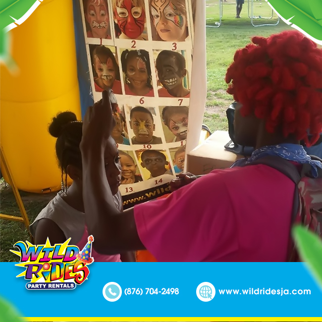 Face painting is fun for the whole family! So why not let Wild Rides Party Renta