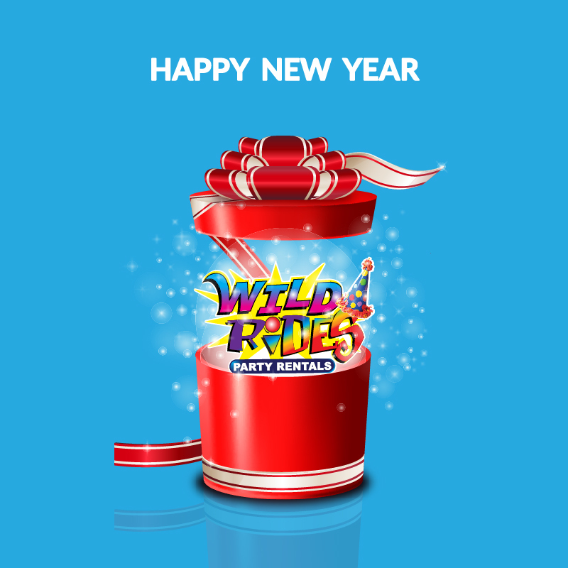 Happy New Year! Join Wild Rides Party Rentals Family with our #NewYearsResolutio