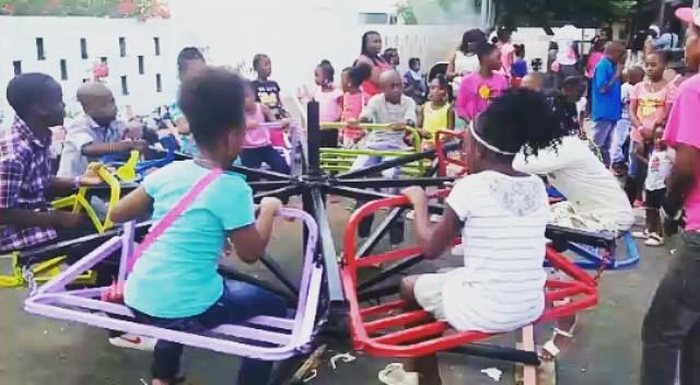 Around,  an around goes the carousel.  #wildridesja