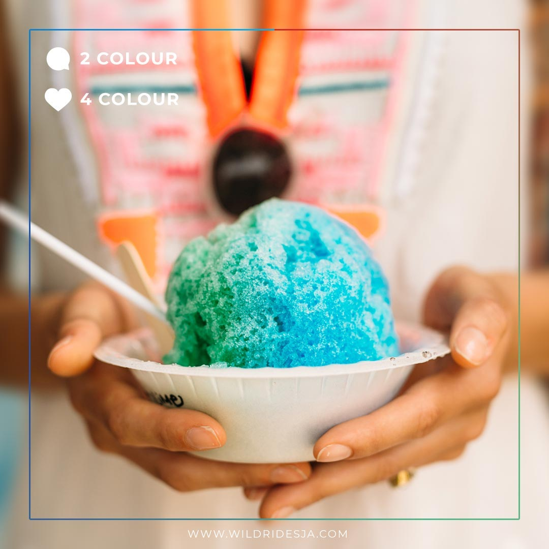 Beat the heat, with something sweet. How many colours on your snow cone?