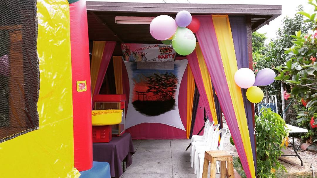 Cotton candy,  maybe some popcorn. We cater to all your birthday party needs.  Y