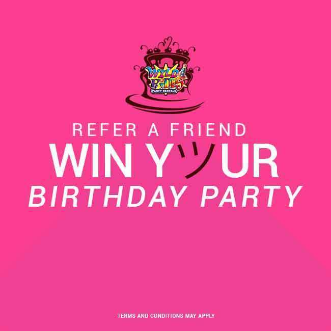Invite Friends for Chances to Win!  Invite friends to join Wild Rides Party Rent