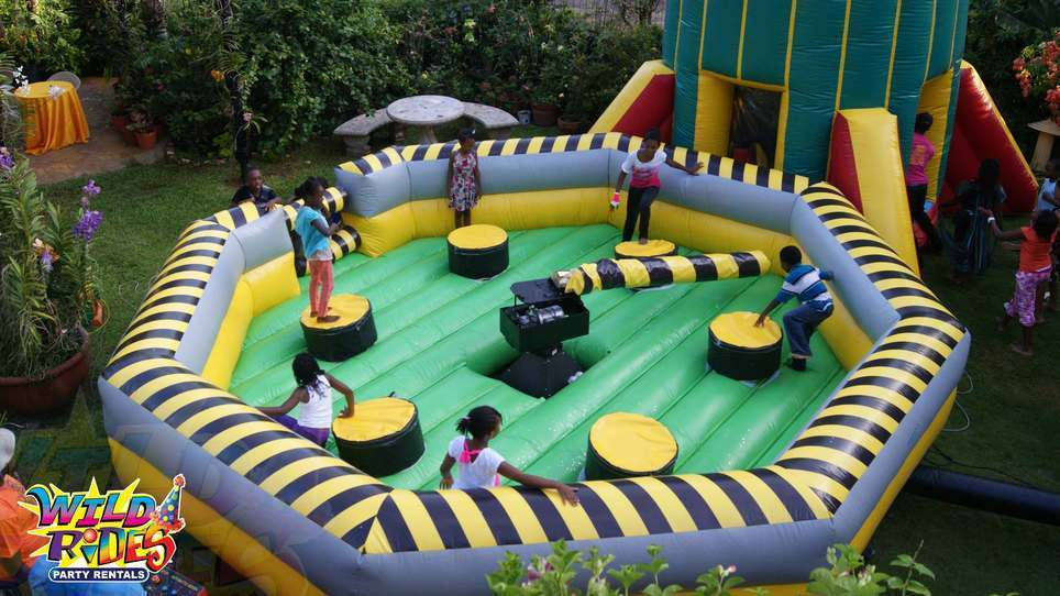 """Tag six (6) friends who would enjoy our """"Eliminator Inflatable Game """""""