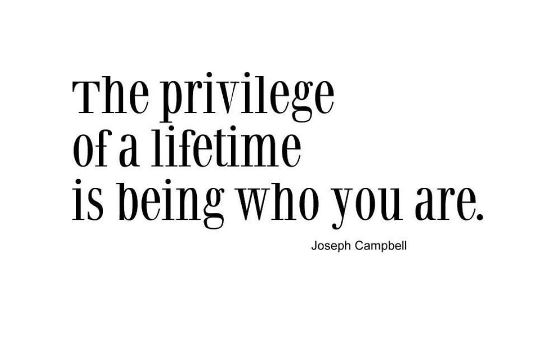 The privilege of a lifetime is being who you are #Fridaymotivation  #tgif #josep