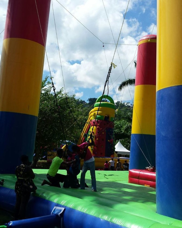 The #wowfactor! Hold on to your safety harness, your about to go up. #bungee