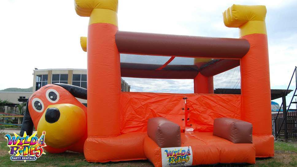 """This month featured inflatable is our """"Puppy Dog Belly Bouncer"""" #inflatable #bou"""