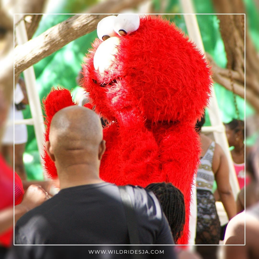 Your favorite furry red monster now comes to your kids' birthday party.  . . . .