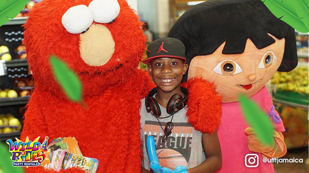 RePost via @megamartjamaica #Elmo and #Dora are spreading #smiles all ov